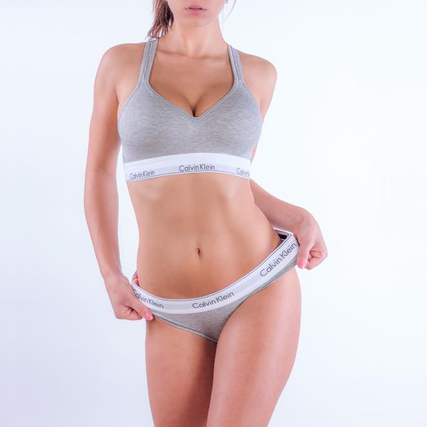 Calvin Klein Podprsenka Bralette Lift Grey, M - 2