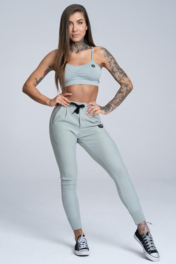 Gym Glamour Tepláky Boyfriend Grey, M - 2