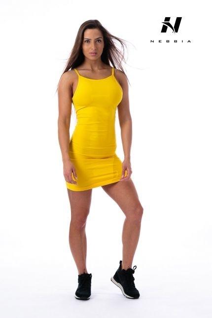 Nebbia Šaty 219 Žluté, S - 2