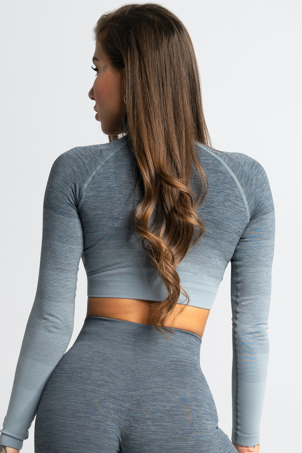Gym Glamour Crop-Top Sea Ombre, XS - 2