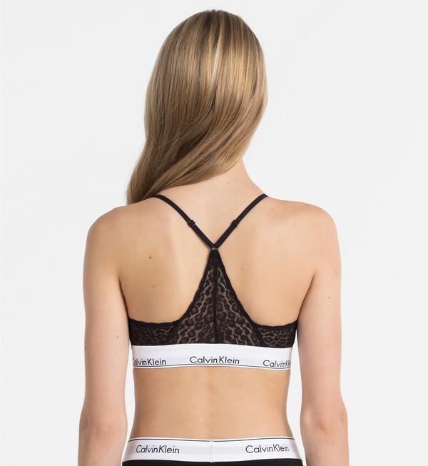 Calvin Klein Podprsenka Triangle Krajkovaná Černá, L - 2