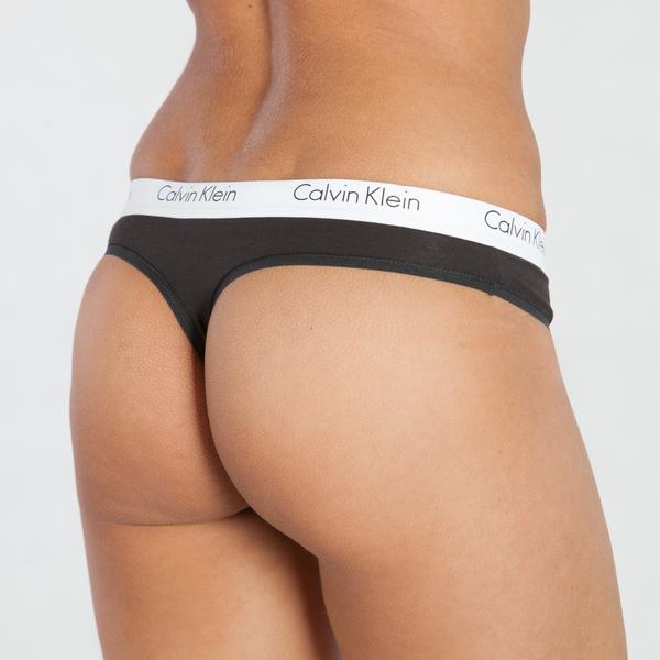 Calvin Klein Tanga CK One Černé, XS - 2