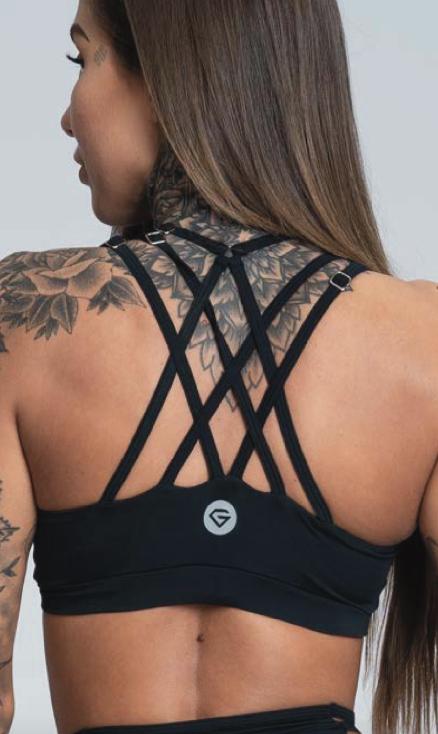 Gym Glamour Podprsenka String Black, XS - 2