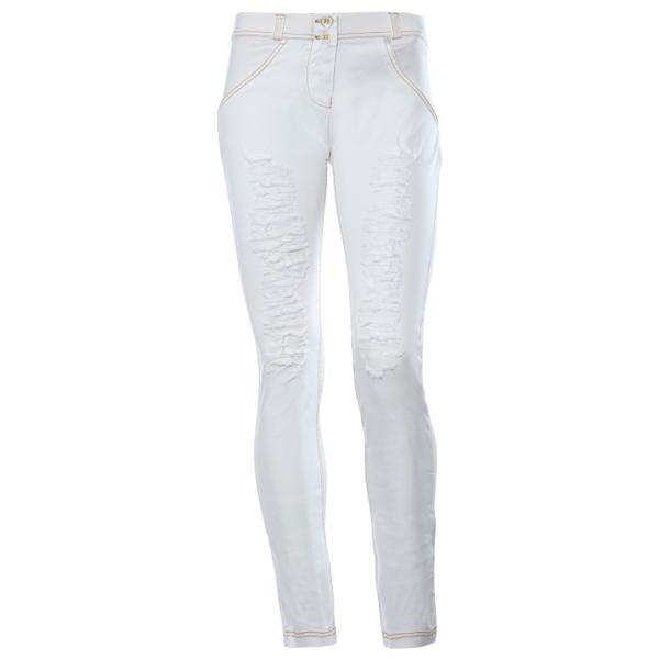 Freddy Jeans Bílé Potrhané Snížený Pas, S - 2