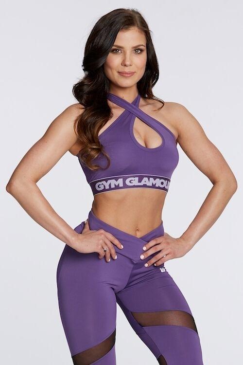 Gym Glamour Podprsenka Violet Basic, S - 2
