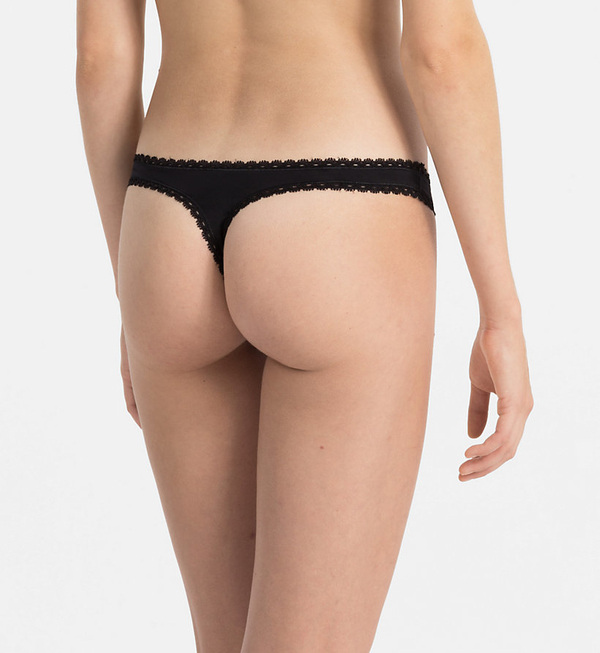 Calvin Klein Tanga Seductive Comfort Black, M - 2