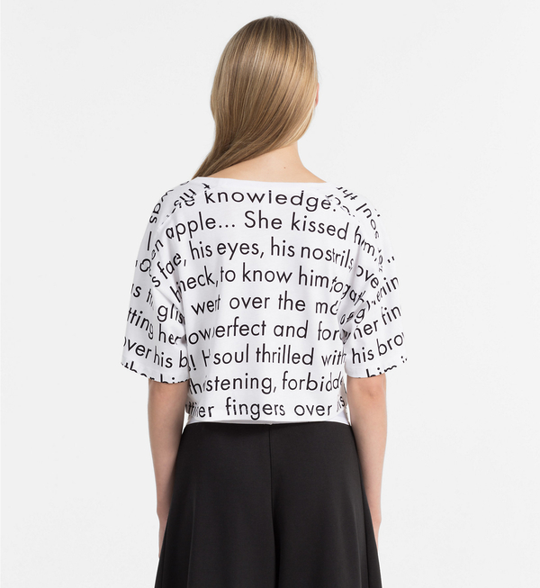 Calvin Klein Crop Top Tričko Women In Love, XS - 2