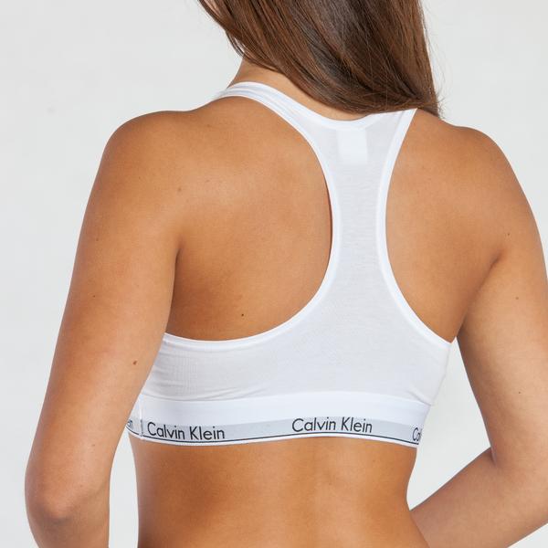 Calvin Klein Podprsenka Bralette Unlined Bílá - 2