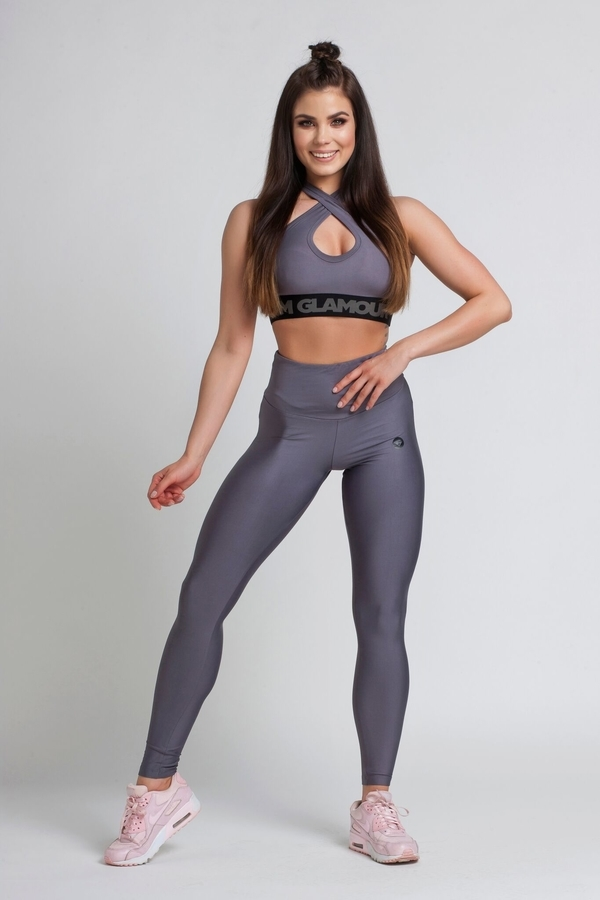 Gym Glamour Legíny High Waist Granite, M - 2