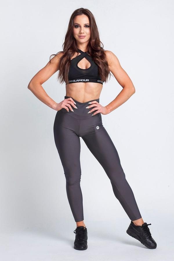 Gym Glamour Legíny High Waist Dark Grey, L - 2