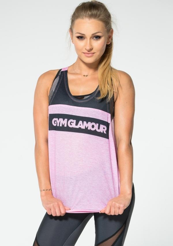 Gym Glamour Top Růžový - 2
