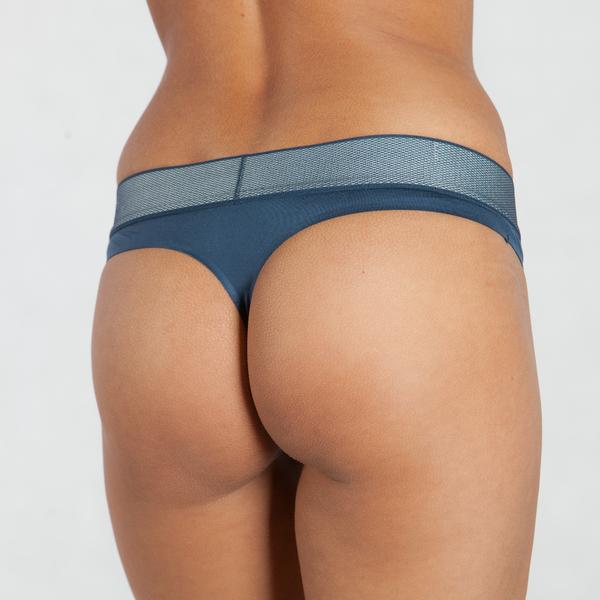 Calvin Klein Tanga Customized Stretch Blue, L - 2