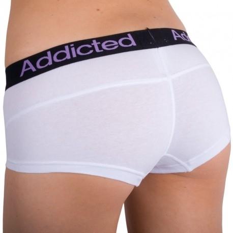 Addicted Kalhotky Bílo-Fialové, S - 2