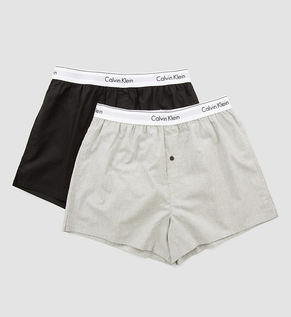 Calvin Klein 2Pack Trenky Black&Grey, M - 2