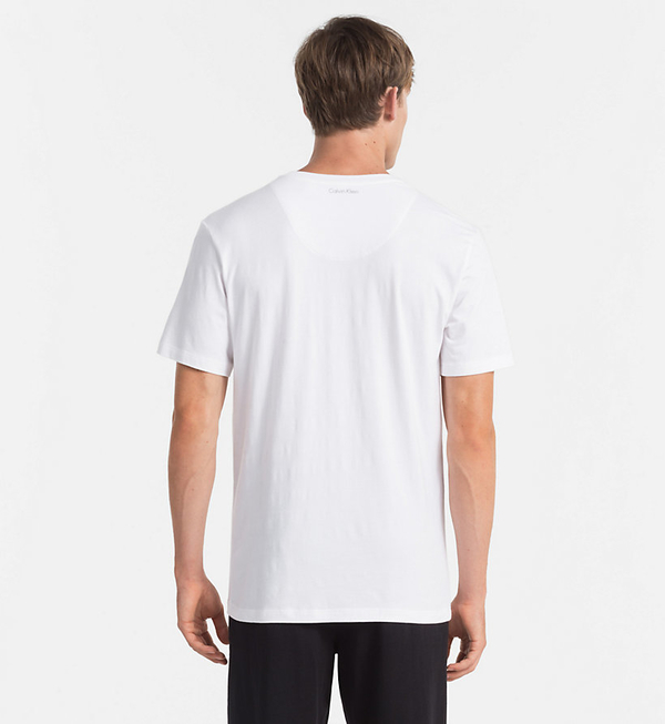 Calvin Klein Pánské Tričko S Nápisem Bílé, M - 2