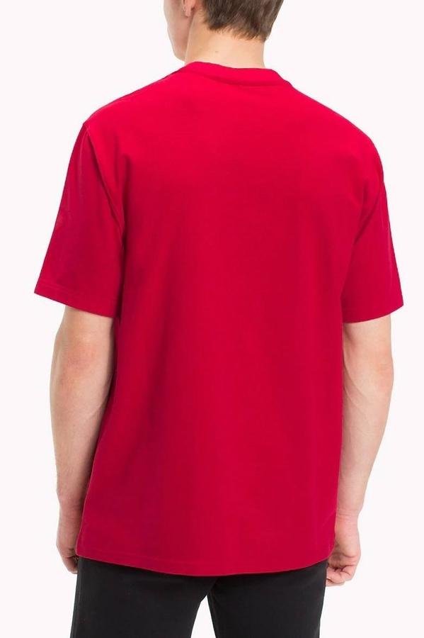 Tommy Hilfiger Tričko Flag Červené Pánské, M - 2
