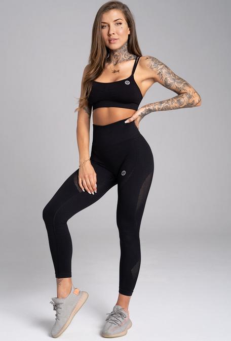 Gym Glamour Legíny Bezešvé Carbon, M - 2