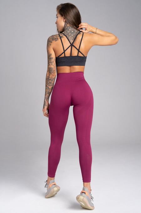 Gym Glamour Legíny Bezešvé Jelly Berry, S - 2