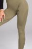 Gym Glamour Legíny Bezešvé Combat Khaki, S - 2/5