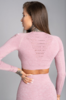 Gym Glamour Crop-Top Pink Melange, XS - 2/2