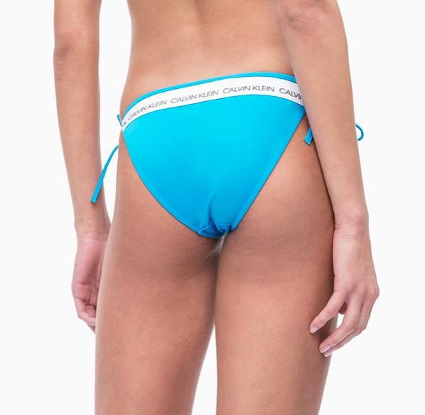 Calvin Klein Plavky CK Logo Maldive Blue Spodní Díl - 2