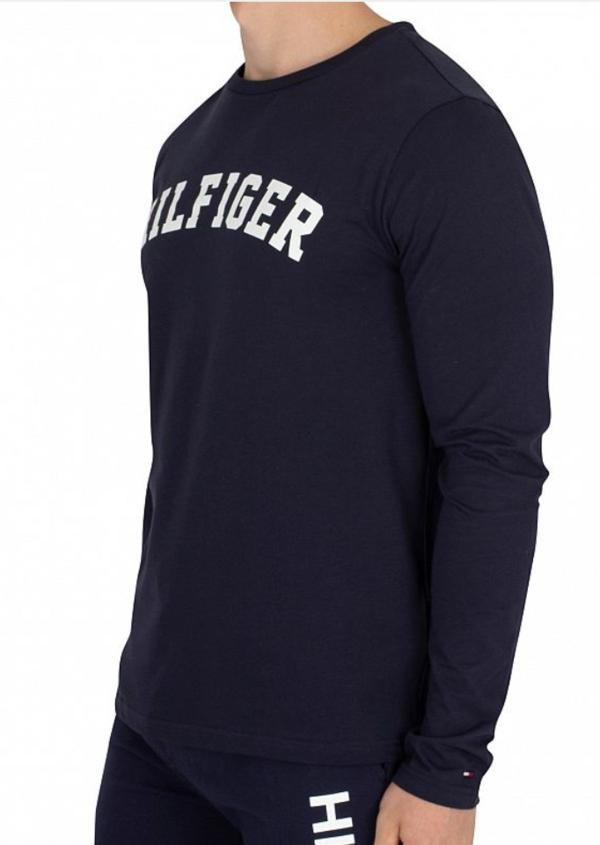Tommy Hilfiger Tričko Tee Logo Navy, XL - 2