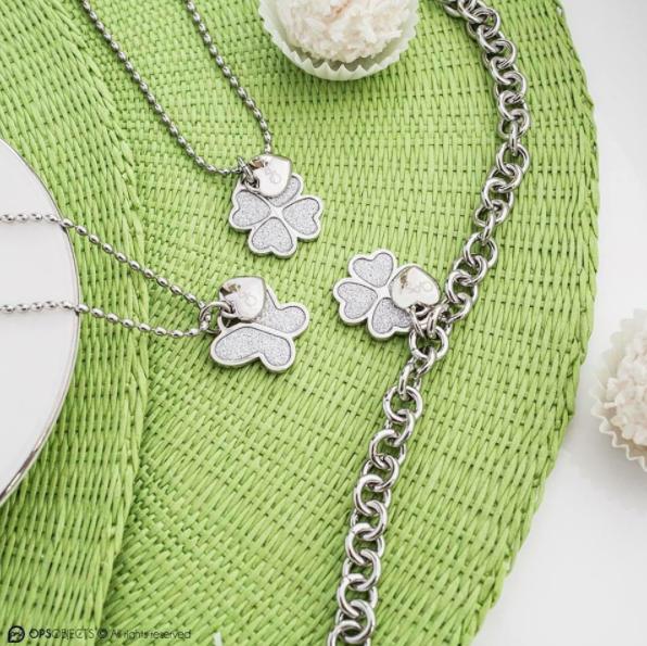 Ops! Objects Glitter Náhrdelník Silver Butterfly - 2