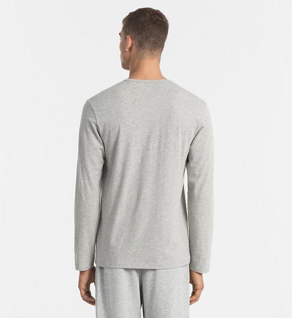 Calvin Klein Tričko S Dlouhým Rukávem Šedé - 2