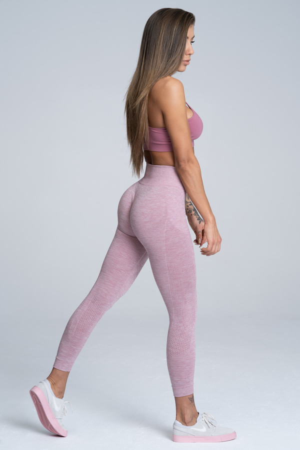 Gym Glamour Legíny Bezešvé Pink Melange - 2
