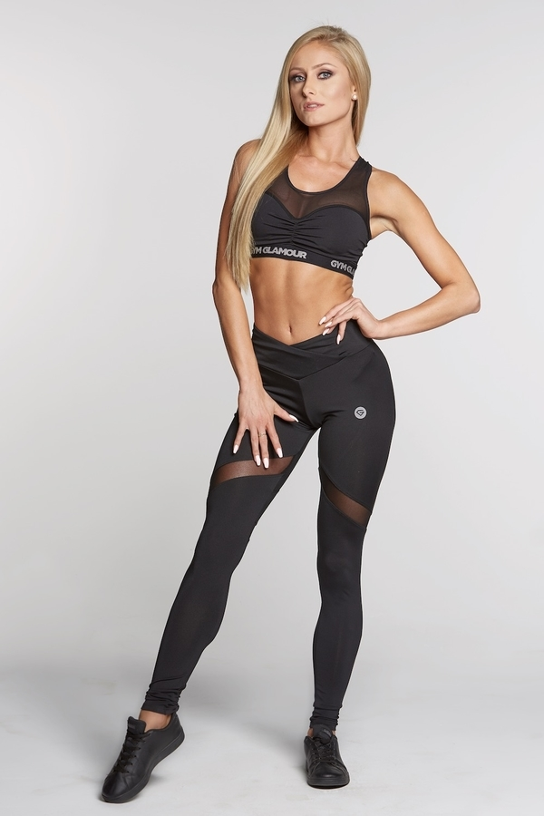 Gym Glamour Legíny Full Black Heart, M - 2