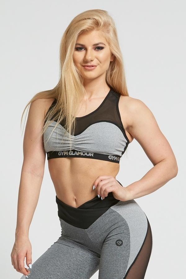 Gym Glamour Podprsenka Grey Mesh, XS - 2