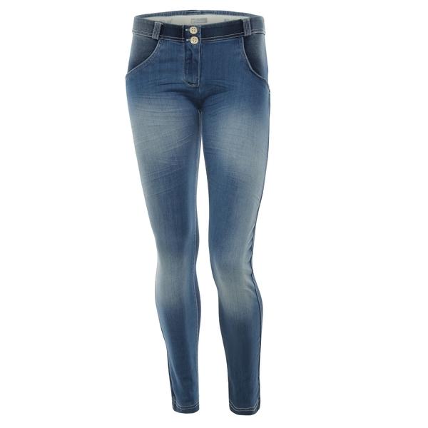Freddy Jeans Světle Modré Vyšisované Normální Pas SS18, S - 2