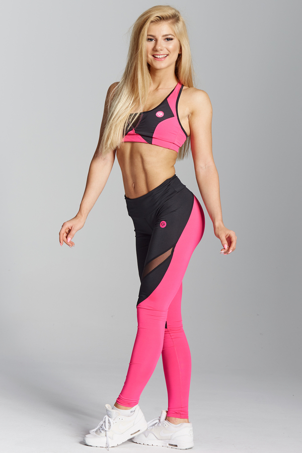 Gym Glamour Legíny Pink Fluo, XS - 2