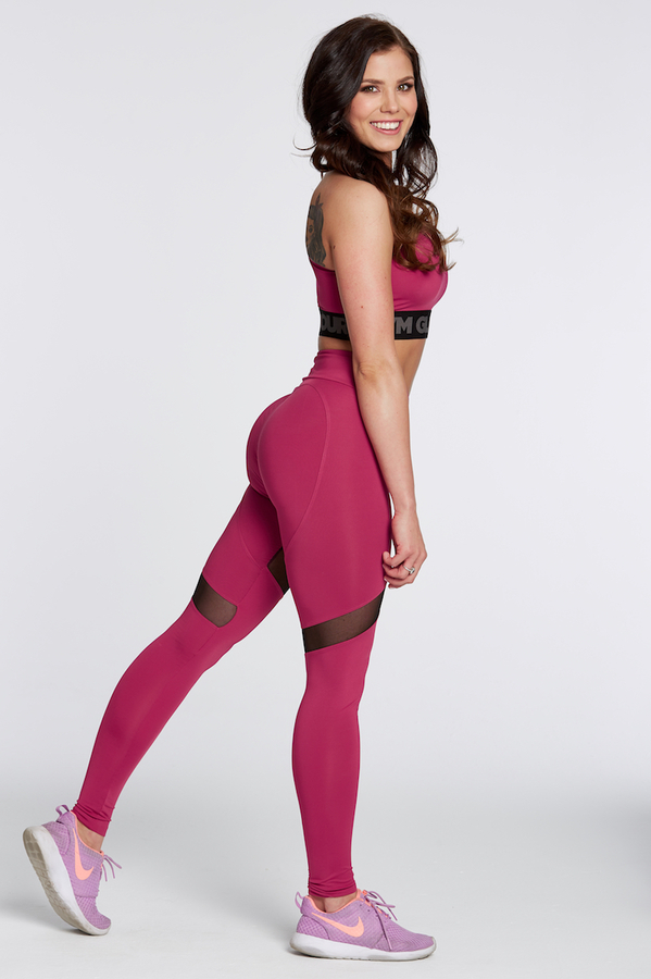Gym Glamour Legíny Raspberry Heart, M - 2