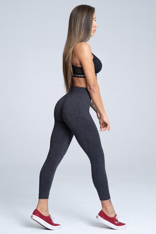Gym Glamour Legíny Bezešvé Grey Melange, M - 2