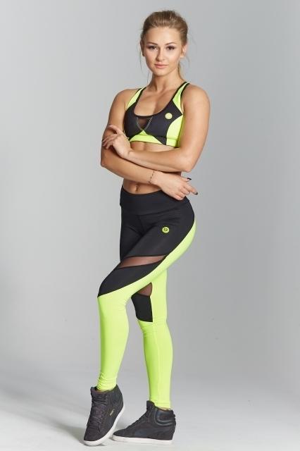Gym Glamour Legíny Green Fluo, L - 2