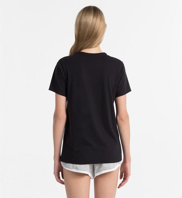 Calvin Klein Logo Dámské Tričko Černé, XS - 2