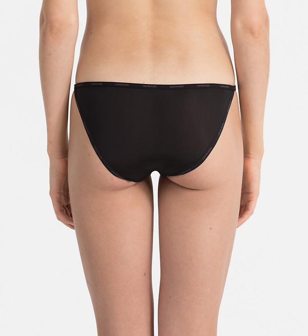 Calvin Klein Kalhotky Sheer Marquisette Black, S - 2