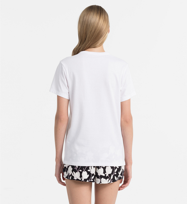 Calvin Klein Logo Dámské Tričko Bílé, S - 2