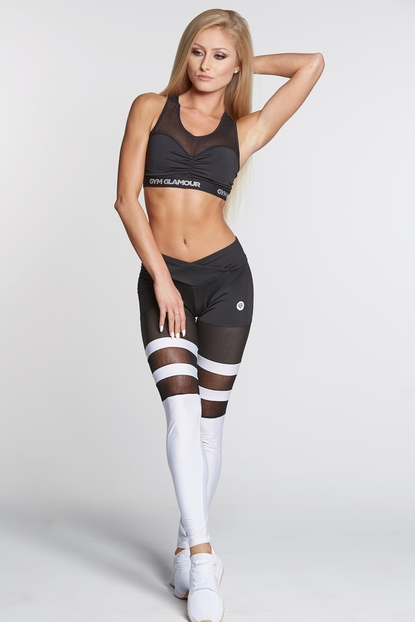 Legíny Gym Glamour Mesh And White Socks - 2