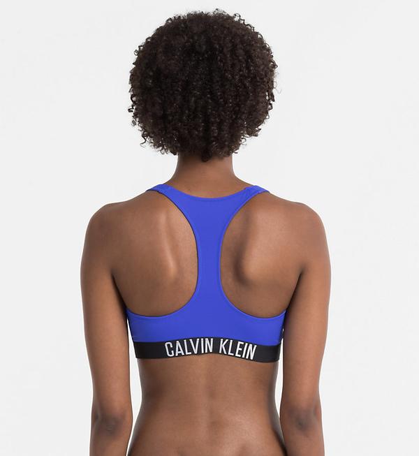 Calvin Klein Plavky Zip Intense Power Modré Vrchní Díl, L - 2