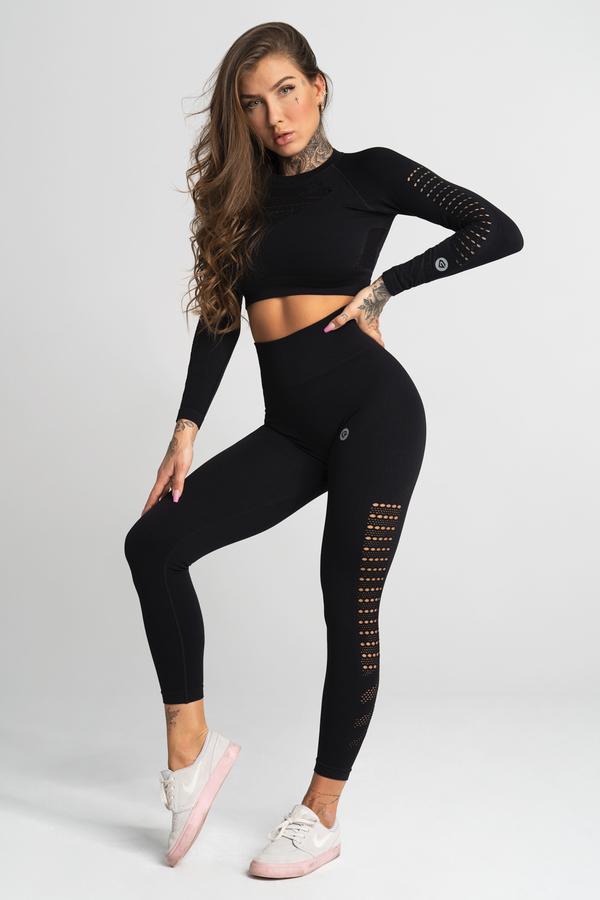 Gym Glamour Legíny Bezešvé Nero, XS - 2
