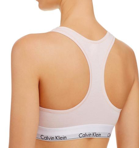 Calvin Klein Podprsenka Bralette Unlined Světle Růžová - 2