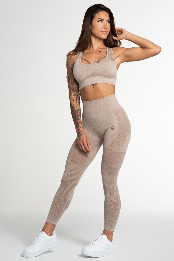 Gym Glamour Legíny Bezešvé Fusion Beige, M - 2