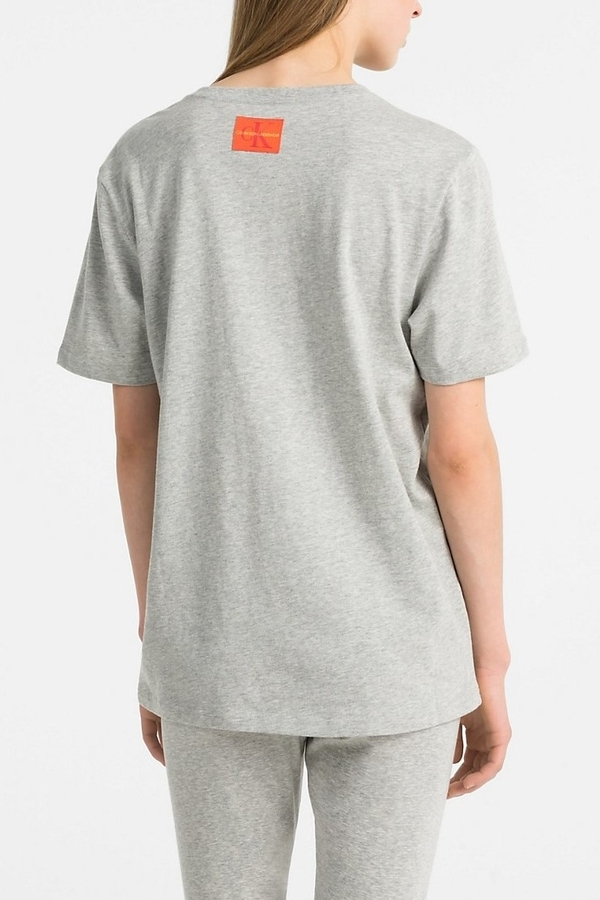 Calvin Klein Tričko Monogram Red & Grey - 2
