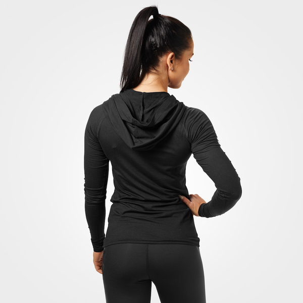 Better Bodies Tričko Performance Long Sleeve Hood Black, XS - 2
