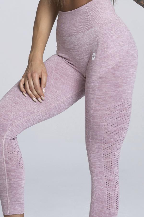 Gym Glamour Legíny Bezešvé Pink Melange, S - 2