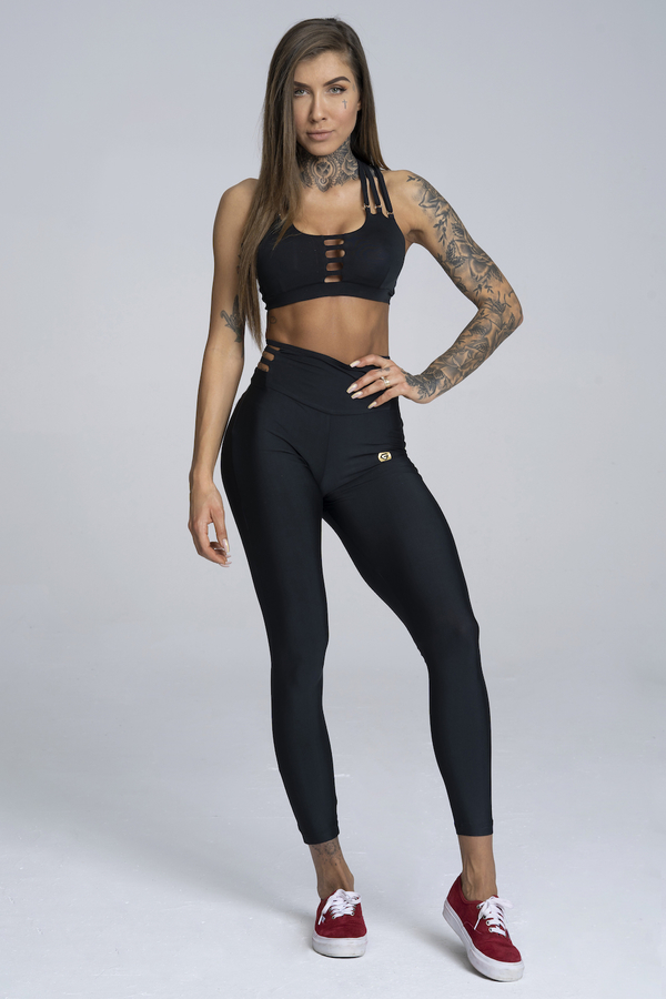 Gym Glamour Legíny String Waist Black - 2