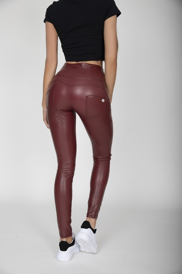 Hugz Wine Faux Leather High Waist, XL - 2