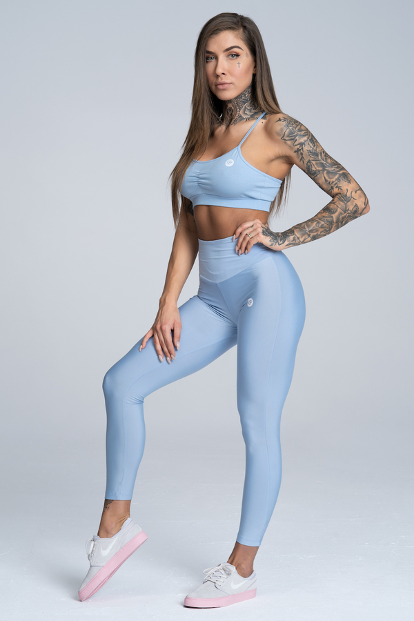 Gym Glamour Legíny High Waist Dream Blue, XS - 2